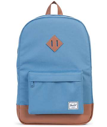 Herschel Supply Heritage Caps Blue & Tan 21.5L Backpack