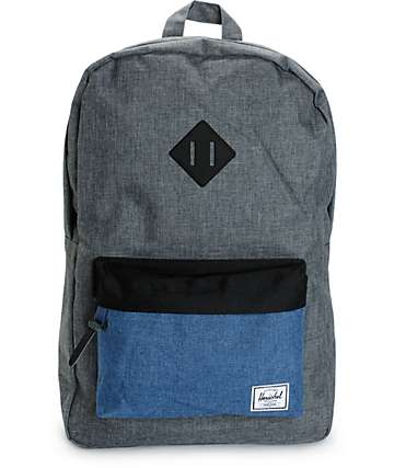 Herschel Supply Heritage Crosshatch & Navy 20L Backpack