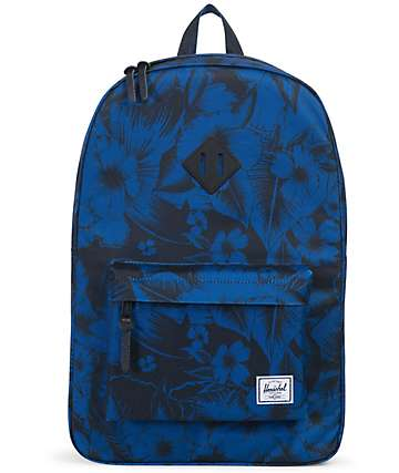 Herschel Supply Heritage Jungle Floral Blue 21.5L Backpack