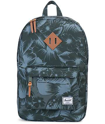 Herschel Supply Heritage Mid Jungle Floral Green 14.5L Backpack