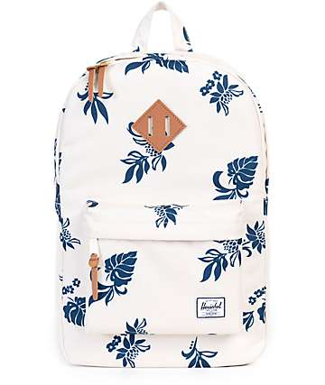 Herschel Supply Heritage Mid Tropical Floral Backpack