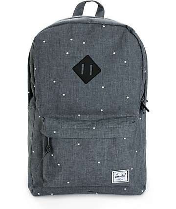 Herschel Supply Heritage Polka Dot Crosshatch 20L Backpack