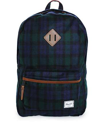 Herschel Supply Heritage Watch Plaid 20L Backpack