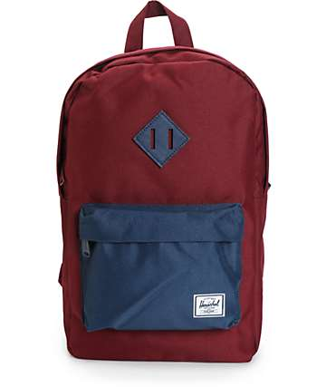 Herschel Supply Heritage Windsor Wine & Navy 14.5L Backpack