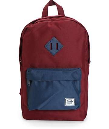 Herschel Supply Heritage Windsor Wine & Navy 14.5L Backpack