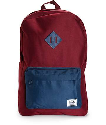 Herschel Supply Heritage Windsor Wine & Navy 20L Backpack