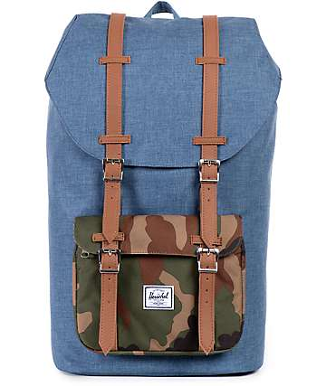 Herschel Supply Little America Crosshatch & Camo 23.5L Backpack