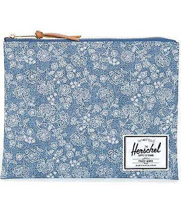 Herschel Supply Network Floral Chambray Large Pouch