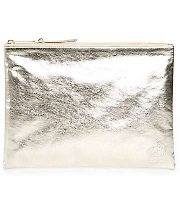 Herschel Supply Network Silver & Gold Large Pouch