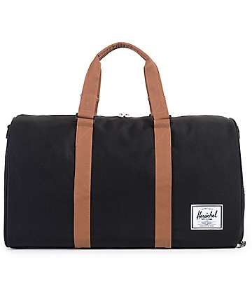 Herschel Supply Novel Black Duffel Bag