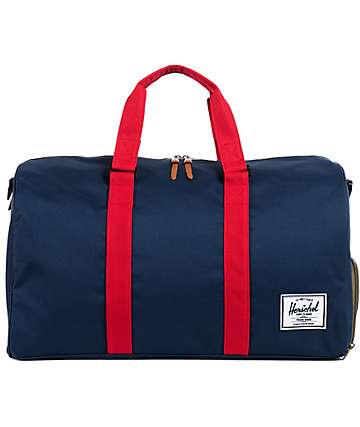 Herschel Supply Novel Navy & Red 39L Duffel Bag