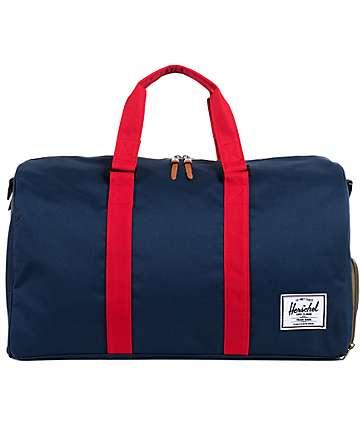 Herschel Supply Novel Navy & Red 39L Duffle Bag