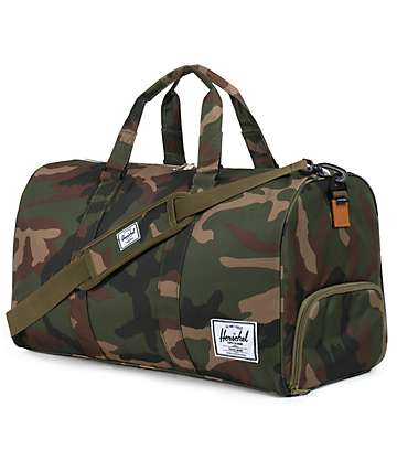 Herschel Supply Novel Woodland Camo Duffle Bag
