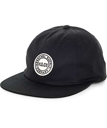 Herschel Supply Owen Black Strapback Hat