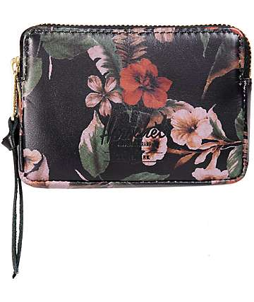 Herschel Supply Oxford Leather Floral Wallet