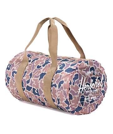 Herschel Supply Packable Camo & Bone 22L Duffle Bag