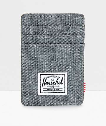 Herschel Supply Raven Crosshatch Cardholder Moneyclip Wallet