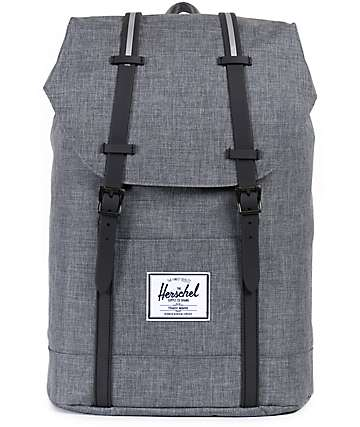 Herschel Supply Retreat Charcoal Crosshatch 22.5L Backpack