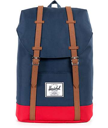 Herschel Supply Retreat Navy & Red 19.5L Backpack