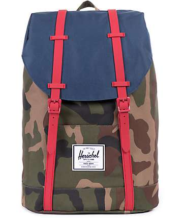 Herschel Supply Retreat Woodland Camo 22L Backpack