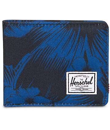 Herschel Supply Roy Jungle Floral Blue Bifold Wallet