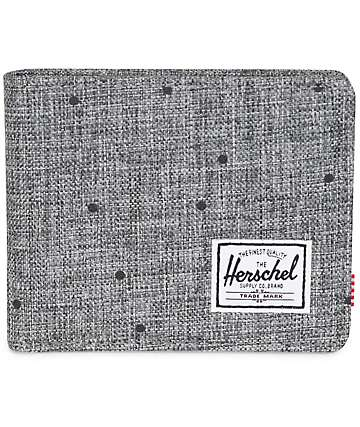 Herschel Supply Roy Scattered Raven Crosshatch Bifold Wallet
