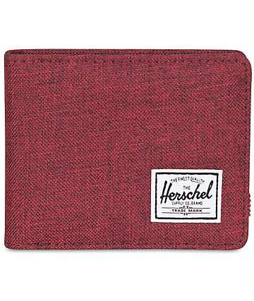 Herschel Supply Roy Winetasting Crosshatch Bifold Wallet