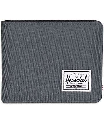Herschel Supply Roy billetera doble pliegue en gris