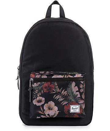 Herschel Supply Settlement Black & Hawaiian Camo 23L Backpack
