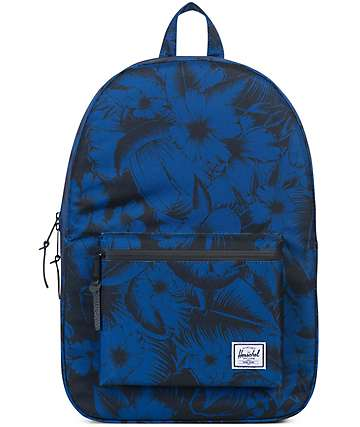 Herschel Supply Settlement Jungle Floral Blue 23L Backpack