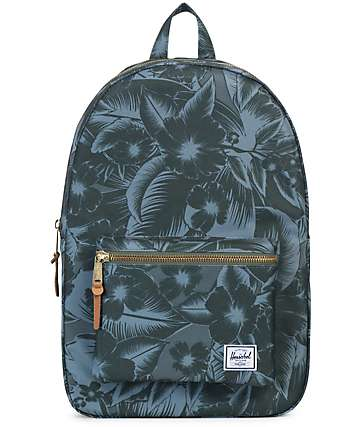 Herschel Supply Settlement Jungle Floral Green 23L Backpack