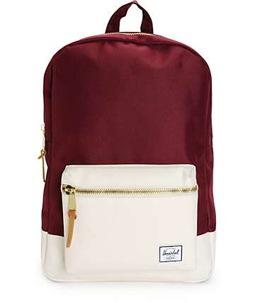 Herschel Supply Settlement Windsor Wine & White 17L Backpack