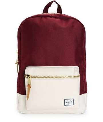 Herschel Supply Settlement Windsor Wine & White 17L Backpack