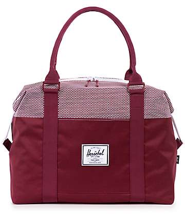 Herschel Supply Strand Windsor Wine Micro Dot 18L Duffle Bag