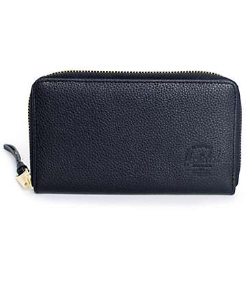Herschel Supply Thomas Black Leather Wallet