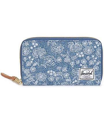 Herschel Supply Thomas Crosshatch Floral Wallet