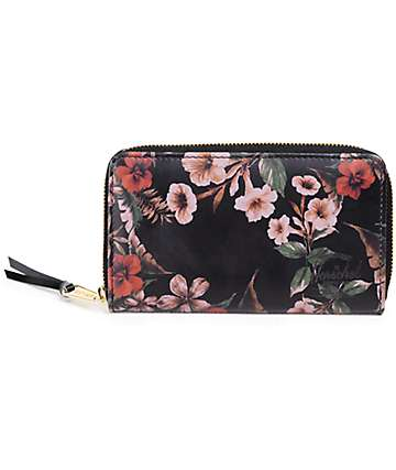 Herschel Supply Thomas Leather Floral Wallet