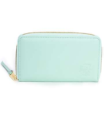 Herschel Supply Thomas Mint Leather Wallet