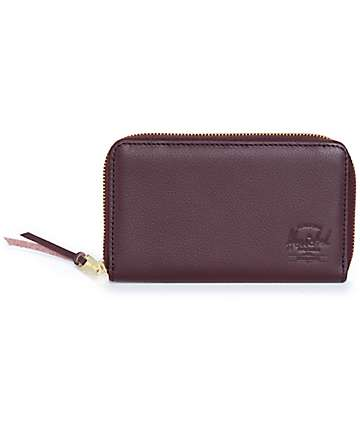Herschel Supply Thomas Oxblood Leather Wallet