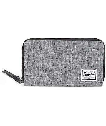 Herschel Supply Thomas Scattered Raven Crosshatch Wallet