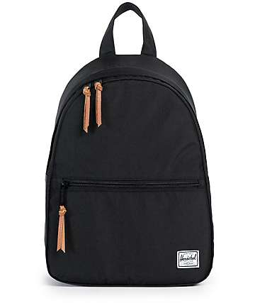 Herschel Supply Town Black Mini Backpack