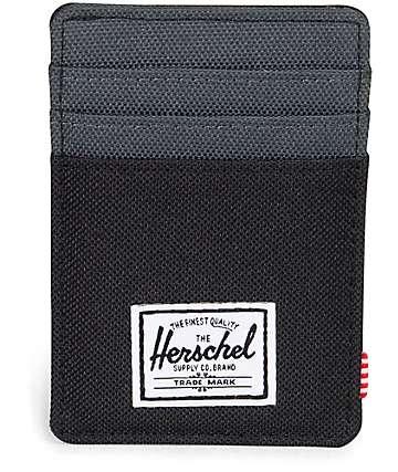 Herschel Supply tarjetero con clip en color negro noche