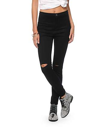 Highway Jeans Black High Waisted Skinny Jeans