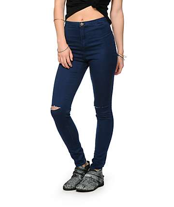 Highway Jeans Dark Rinse High Waisted Skinny Jeans