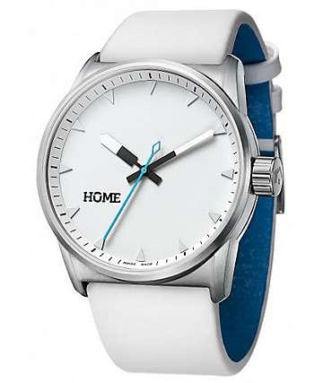 Home C-Class Arctic White & Cyan Swiss Analog Watch