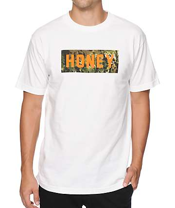 Honey Brand Co Logo Space Camo T-Shirt
