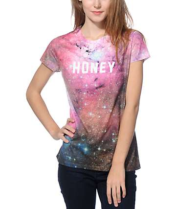 Honey Brand Co. Antenna Sublimated Galaxy T-Shirt