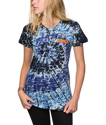 Honey Brand Co. Drip Sketch Indigo Tie Dye T-Shirt