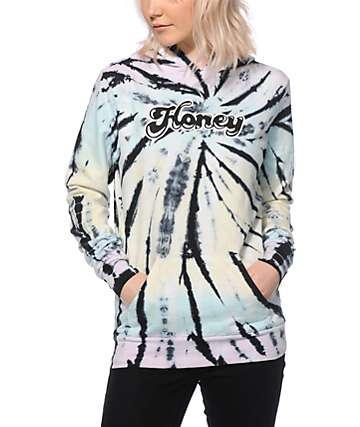 Honey Brand Co. Golden Eye Pastel Tie Dye Hoodie