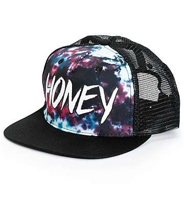Honey Brand Co. Green Tie Dye Trucker Hat